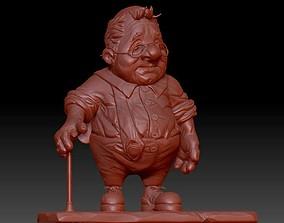 3D printable model Funny oldman cartoon character