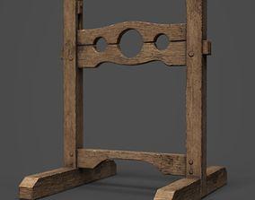 Pillory Wooden 3D asset