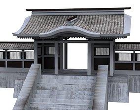 Modular Chinese Wall 3D asset