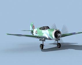 Curtiss H-75C Mohawk V24 RAF 3D