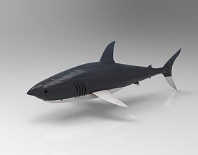 great white shark 3D asset realtime