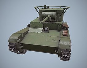 Panzer T-26 model 3D asset