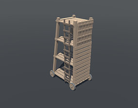 3D asset Siege tower lowpoly