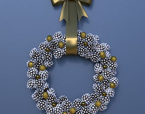 crown Christmas Wreath 3D model
