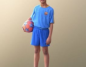 10540 Amal - Young Soccer Player Boy In Trikot 3D model 1