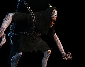 3D model Creature Monster Animated Faceless Gravewalker