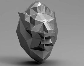 Lion Head 3D print model statue