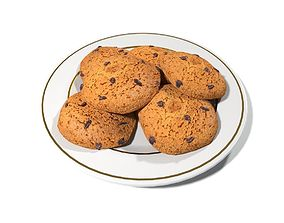 3D model Oatmeal Cookies