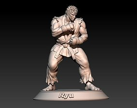 3D print model Street Fighter Ryu - Fight stance pose