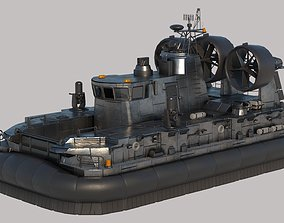 Medium Military Hovercraft VRay PBR 3D model