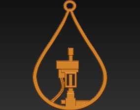 3D print model Oil Field Screw pump in droplet