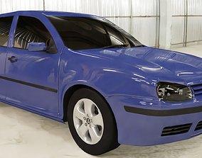 3D asset Volkswagen GOLF MK4 1997 2005