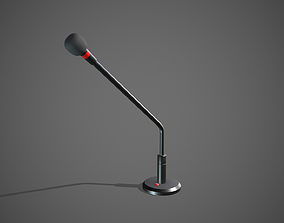 Microphone 3D asset game-ready