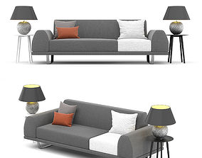 3D model Portland 2 5 seater sofa