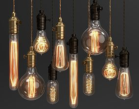 edison Edison Vintage Lamp set Blender Cycles 3D