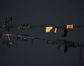 3D asset Weapons Pack Low Poly Mobile Ready