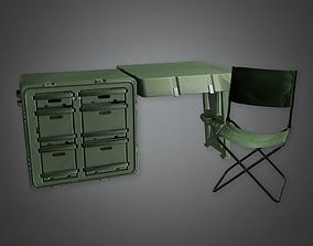 Military Furniture Desk 02 - MLT - PBR Game 3D asset
