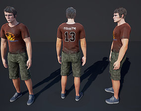 Man Character Casual 1 3D model animated