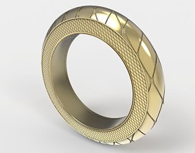 3D printable model Simple diamond pattern ring
