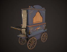 Street organ 3D asset game-ready