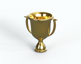 3D Gold Trophy platinum