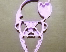 3D print model Santa Cookie Cutter
