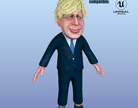 Boris Johnson caricature 3D asset