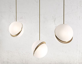 3D Crescent Pendant Light