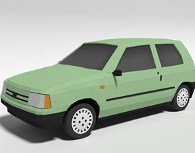 3D model Low Poly Cartoon Fiat Uno 1983 Car