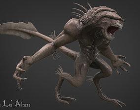 3D model animated game-ready Alien Monster