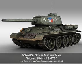 T-34 85 - Soviet medium tank - CS673 3D