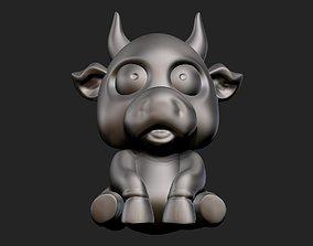 bull statue 3D print model character