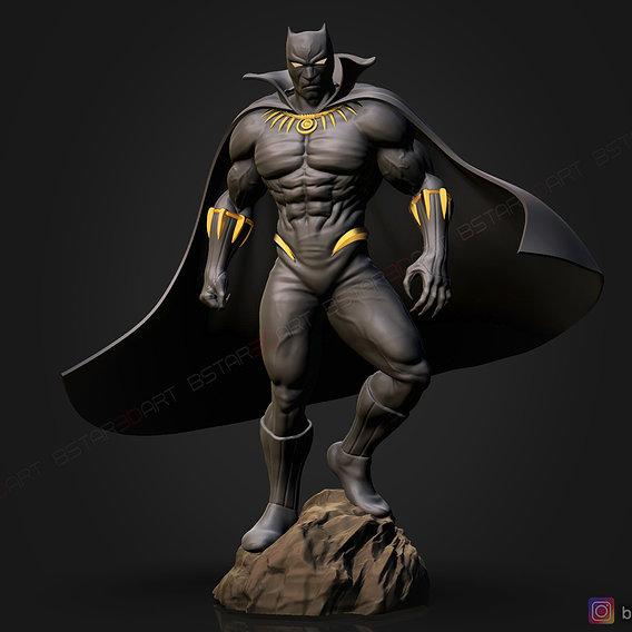Black Panther Marvel Comic Fan Art 3D print model