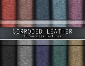 3D Corroded Leather Seamless Textures Set