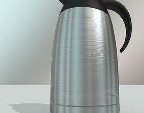 Aluminum Coffee pot 3D asset low-poly