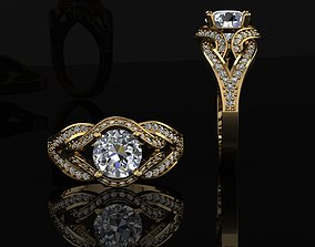 solitaire ring 3D print model wedding gold