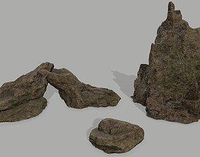 3D asset game-ready Rock set