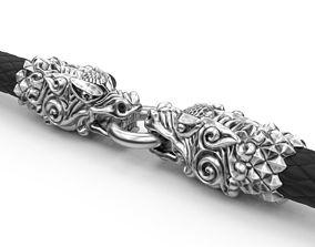 3D printable model End pieces for bracelets dragon