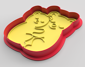 3D print model Cookie cutter and stamp - Bears and