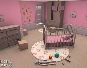 Small girls room - interior and props 3D model