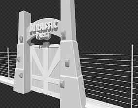 Jurassic Park Tourgate 3D asset