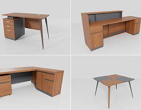 3D model Office furniture Set