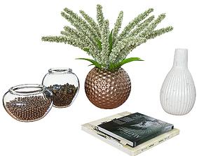 Decorative set plant 3D model