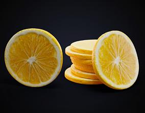 3D model Lemon slice