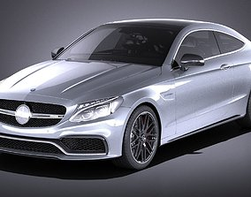 3D model Mercedes-Benz C63 AMG Coupe 2017 VRAY