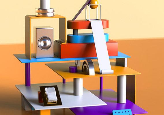 Abstract background design _ Redshift Renderer - Cinema 4d