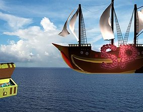 Basic Pirate Ship 3D asset