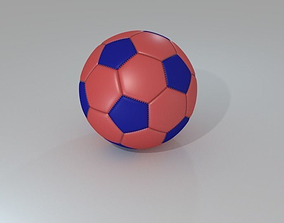 Orange and Blue Football 3D