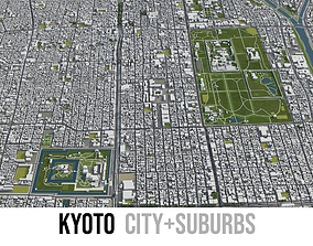 3D asset Kyoto - city and surroundings