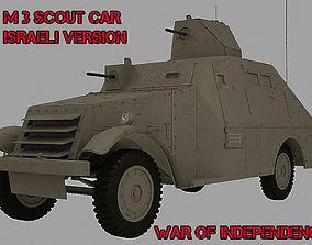 3D model APC M3 Scout Car Isareli Version